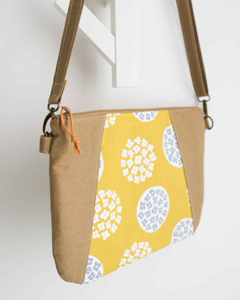 e6123fbdc5 Zipped Crossbody Sling Bag - Japanese Mustard Flowers – madebyloopy