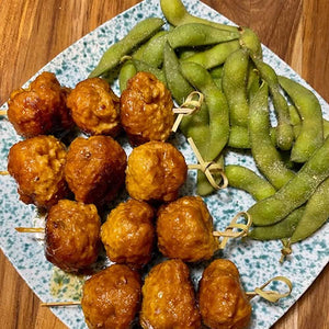 Hoisin Glazed Ginger-Chicken Meatballs