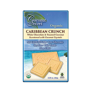 "Coconut Secret ""Caribbean Crunch"" White Chocolate Bar"