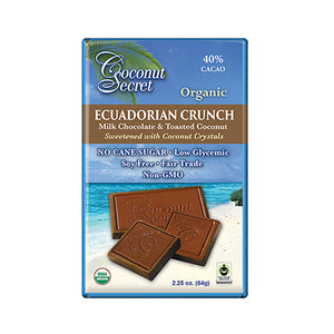 "Coconut Secret ""Ecuadorian Crunch"" Milk Chocolate Bar – 40% Cacao"