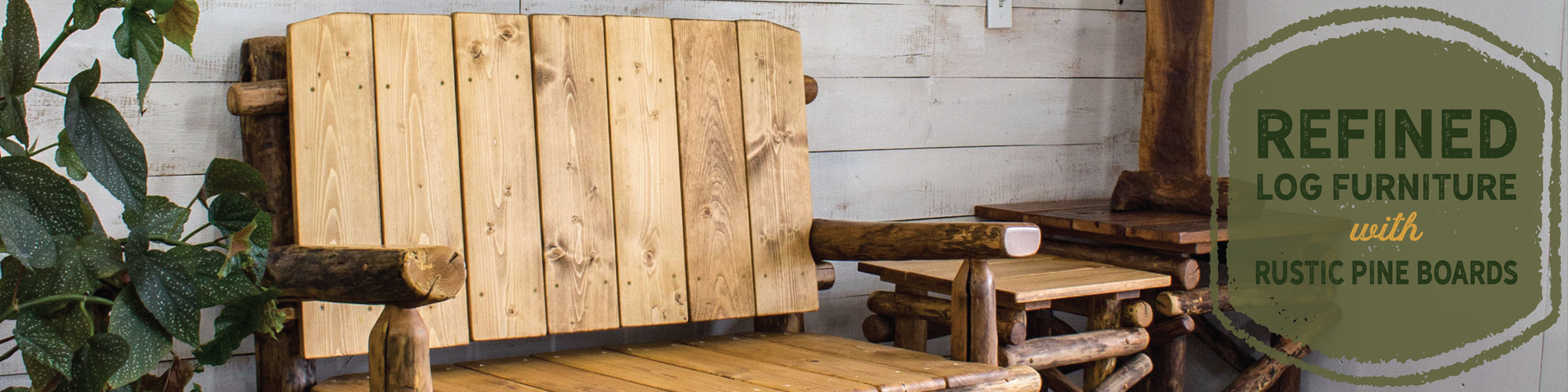 Log cabin furniture by woodzy shop