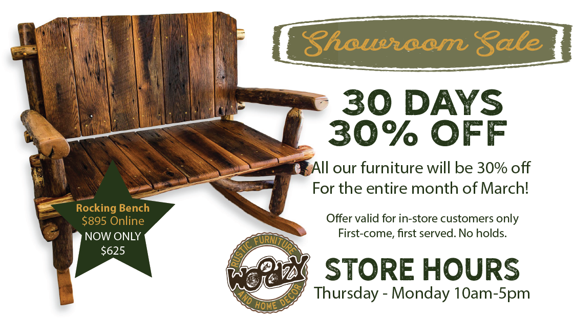 Rustic furniture sale