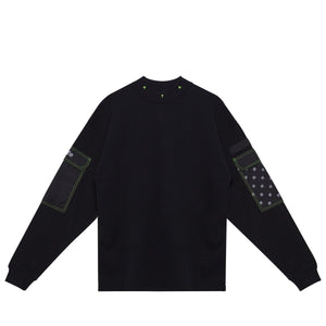 CARGO MOCK NECK SWEAT BLACK