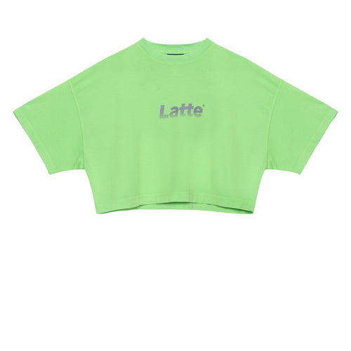 CLASSIC LOGO REFLECTIVE CROP T-SHIRT GREEN