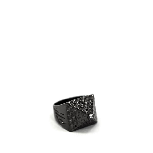 Big Pyramid Ring Gun Metal Jewelry