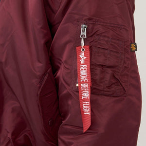 Ma-1 Flight Jacket Burgundy Jackets