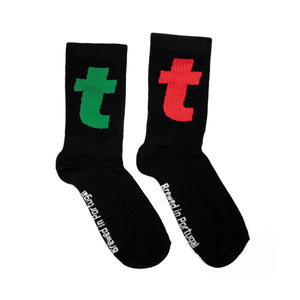 TWO T SOCKS BLACK
