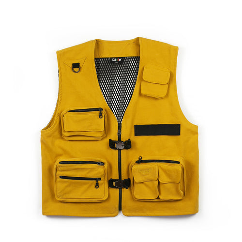 TECHNICAL CARGO VEST GOLD