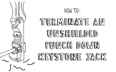 How to: Terminate an Unshielded Punch Down Keystone Jack