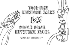 Toolless Keystone Jacks vs Punch Down Keystone Jacks: What's the Difference?