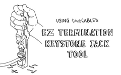 Using trueCABLE's EZ Termination Keystone Jack Tool