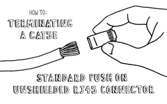How To: Terminating a Cat5e Standard Push On Unshielded RJ45 Connector
