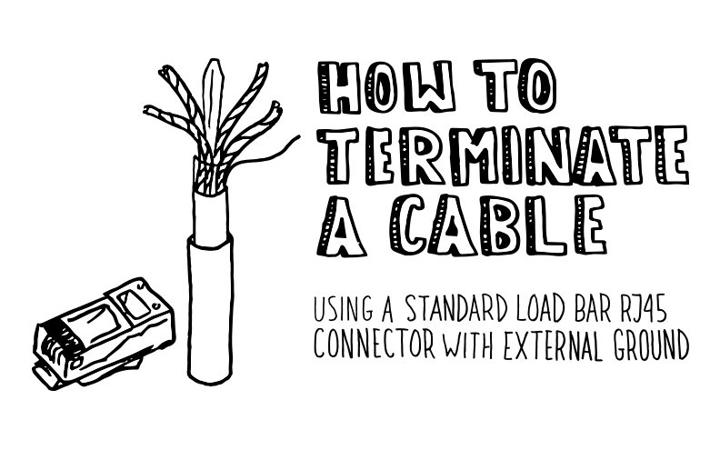 How To: Terminate a Shielded Cat6/Cat6A Standard Load Bar RJ45 Connector With External Ground
