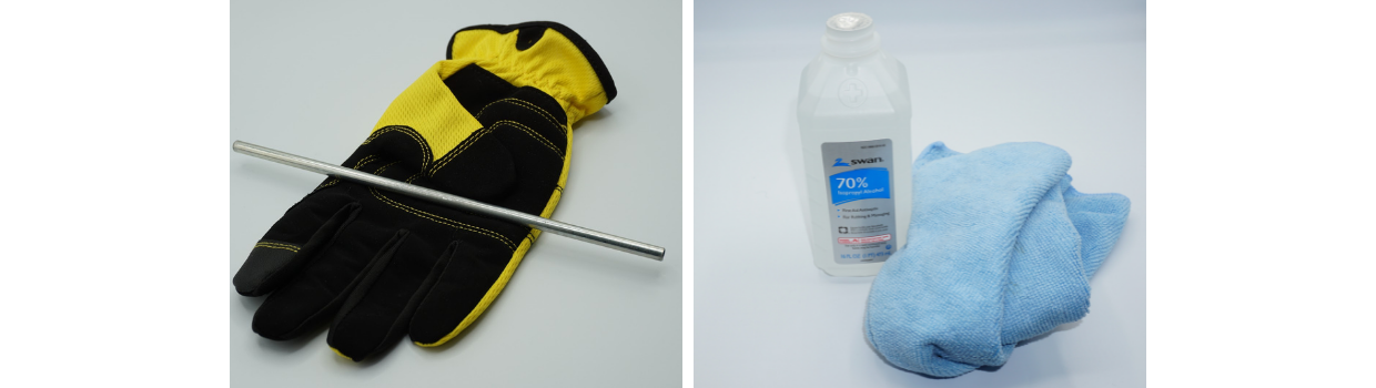 Isopropyl alcohol (70% or higher) to remove excess gel filling