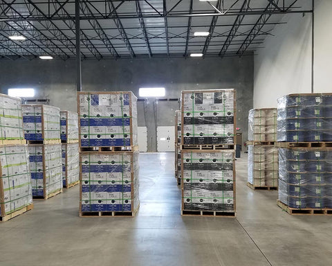 trueCABLE Inventory on pallets in new Kansas City Warehouse
