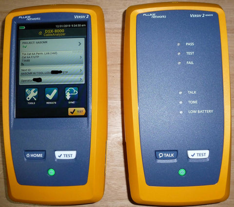 Fluke DSX-8000 CableAnalyzer main and remote units
