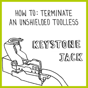 How to: Terminate an Unshielded Toolless Keystone Jack
