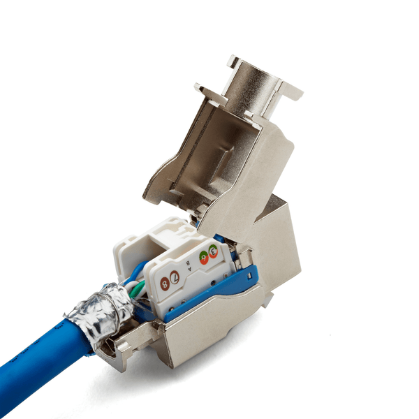 Cat6A Toolless Keystone Jack | Shielded | 2pc | Packaging | White