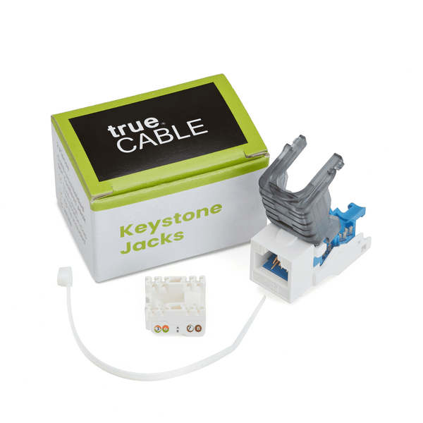 Cat6 Toolless Keystone Jack | Unshielded | 2pc | Packaging | White
