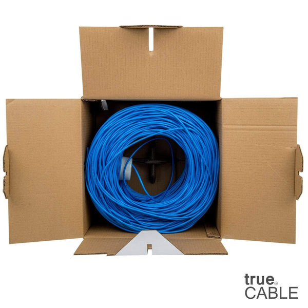 Cat5e Plenum Ethernet Cable Blue 1000ft trueCABLE Open Box