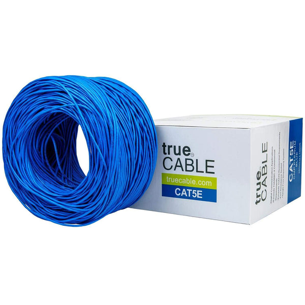 Cat5e Plenum Ethernet Cable Blue 1000ft trueCABLE Box Top