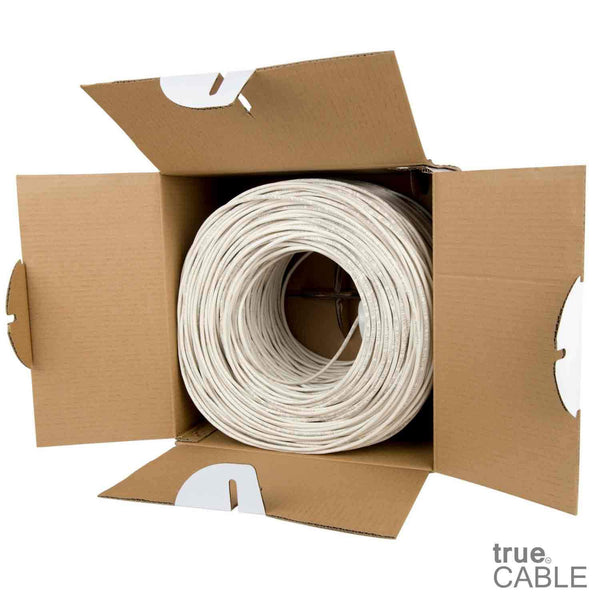 Cat5e Plenum Ethernet Cable White 1000ft trueCABLE Open Box