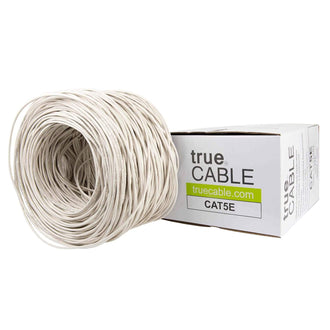 Cat5e Plenum Ethernet Cable White 1000ft trueCABLE Box Top