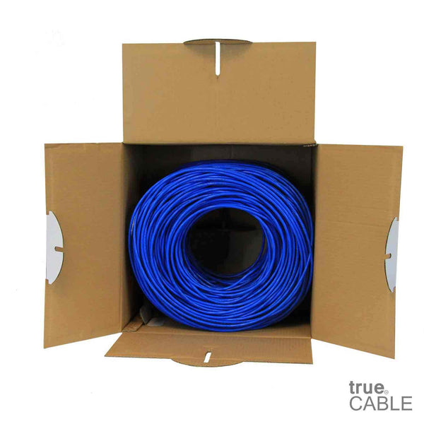 Cat5e Riser Ethernet Cable Blue 1000ft trueCABLE Open Box