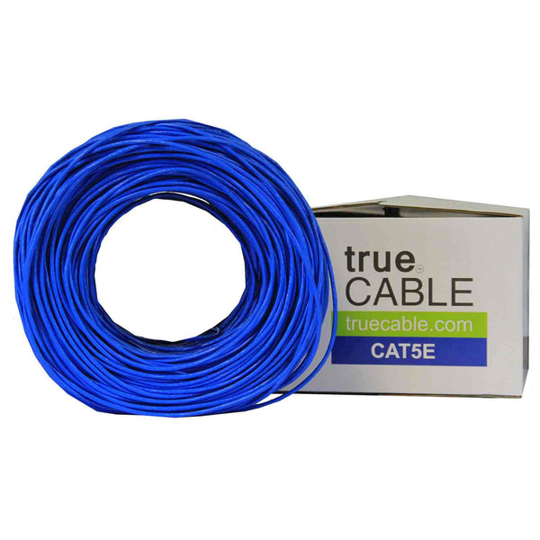 Cat5e Riser Ethernet Cable Blue 1000ft trueCABLE Box Top