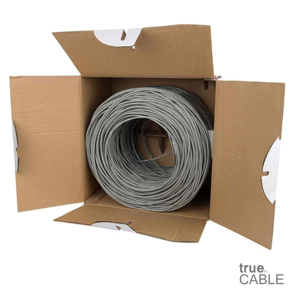 Cat5e Riser Ethernet Cable Gray 1000ft trueCABLE Open Box