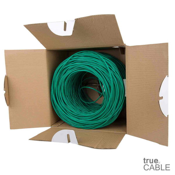 Cat5e Riser Ethernet Cable Green 1000ft trueCABLE Open Box