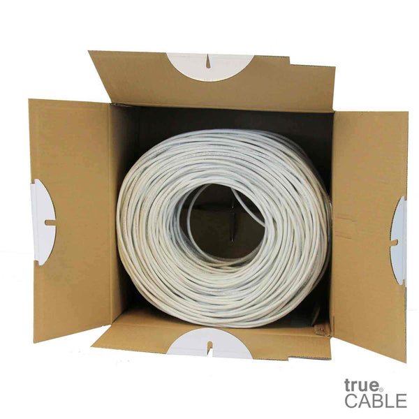 Cat5e Riser Ethernet Cable White 1000ft trueCABLE Open Box