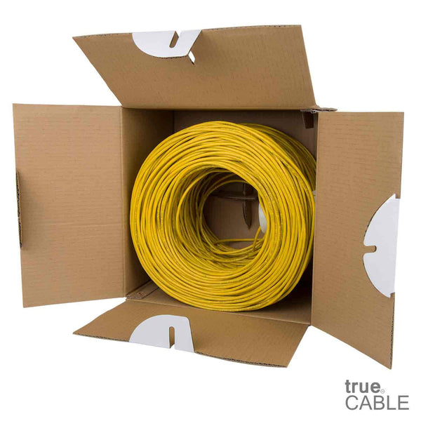 Cat5e Riser Ethernet Cable Yellow 1000ft trueCABLE Open Box