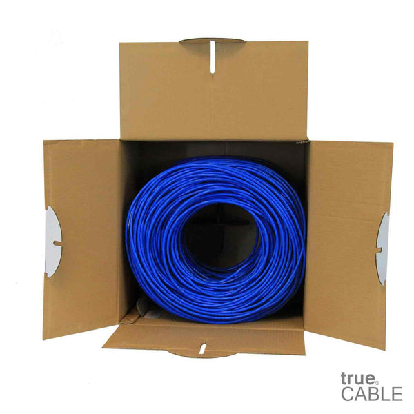 Cat5e Shielded Riser Ethernet Cable Blue 1000ft trueCABLE Open Box