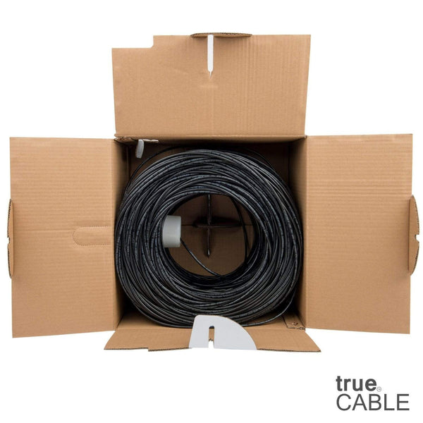 Cat5e Riser Ethernet Cable Black 1000ft trueCABLE Open Box