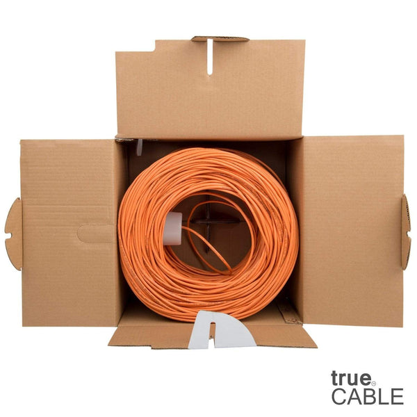 Cat5e Riser Ethernet Cable Orange 1000ft trueCABLE Open Box
