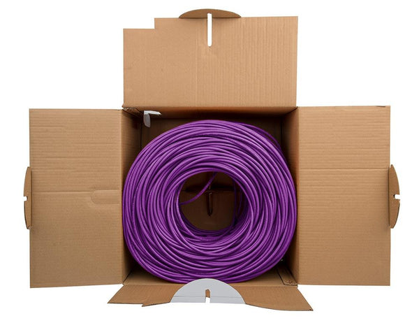 Cat5e Riser Ethernet Cable Purple 1000ft trueCABLE Open Box
