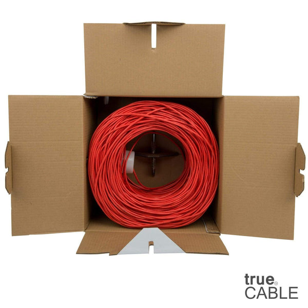 Cat5e Riser Ethernet Cable Red 1000ft trueCABLE Open Box
