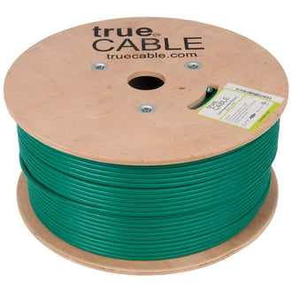 Cat6A Plenum Ethernet Cable Green 1000ft trueCABLE Reel No Wrap