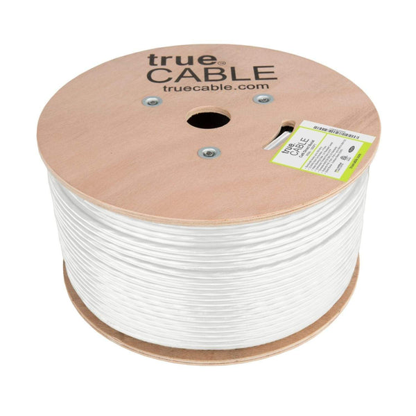 Outdoor Cat6 Cable White 1000ft trueCABLE Reel No Wrap