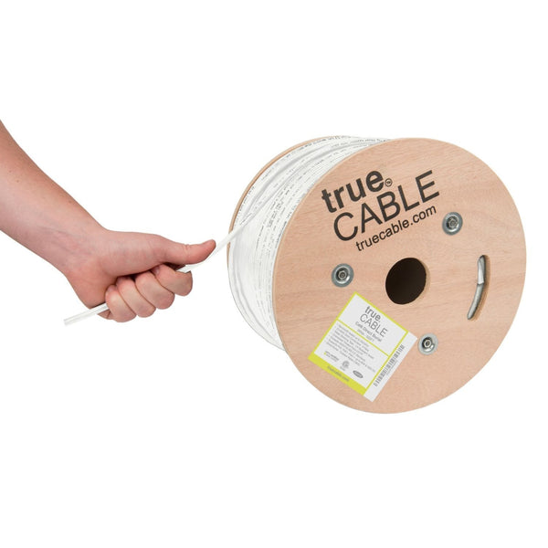 Outdoor Cat6 Cable White 500ft trueCABLE Hand Pulling