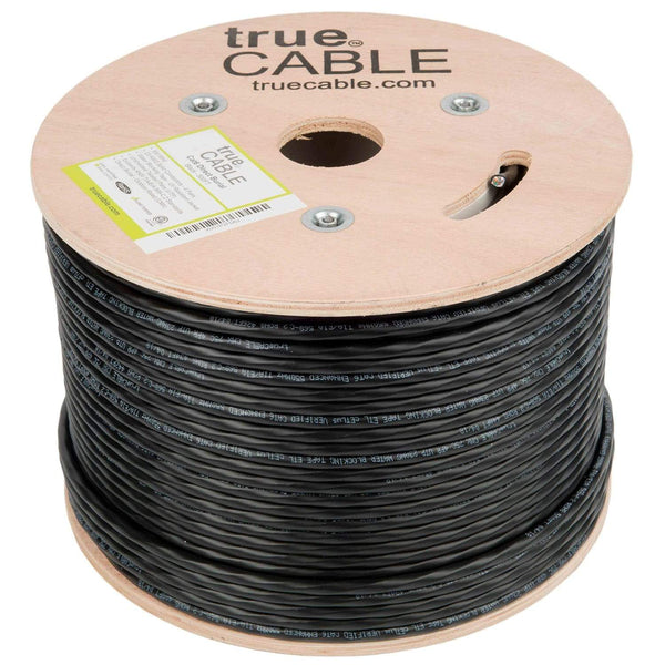 Outdoor Cat6 Cable Black 500ft trueCABLE No Wrap