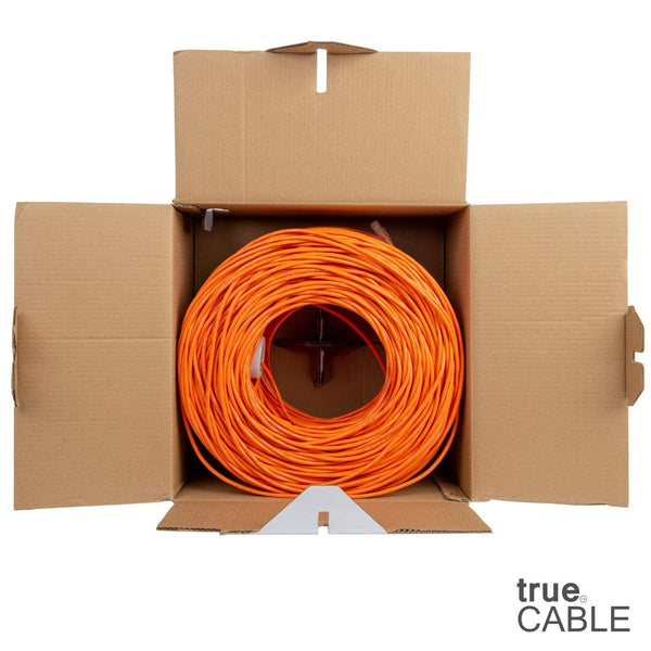 Cat6 Plenum Ethernet Cable Orange 1000ft trueCABLE Open Box