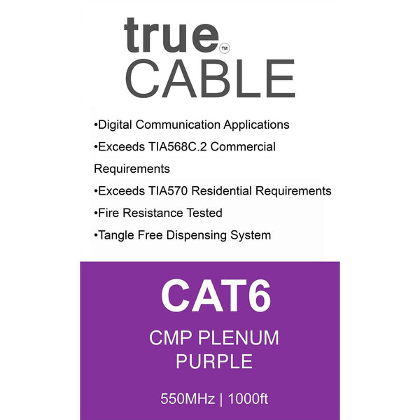Cat6 Plenum|Unshielded