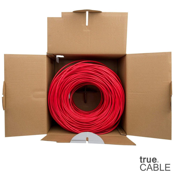Cat6 Plenum Ethernet Cable Red 1000ft trueCABLE Open Box
