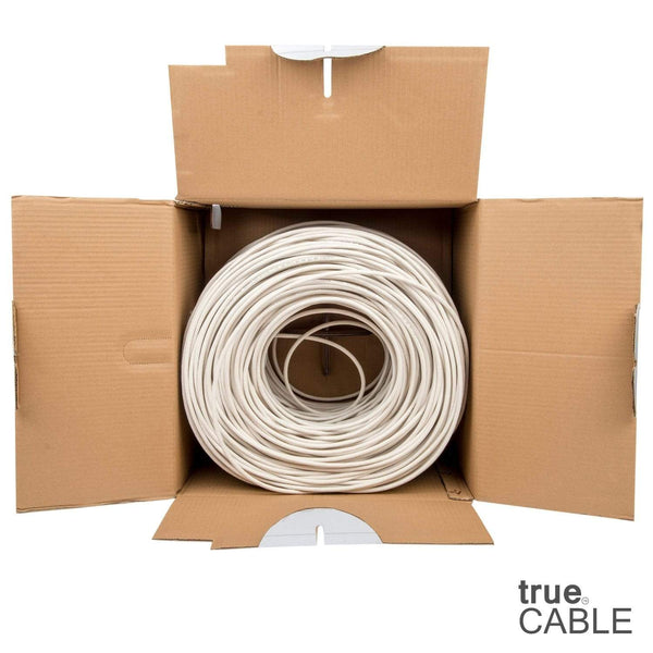 Cat6 Plenum Ethernet Cable White 1000ft trueCABLE Open Box