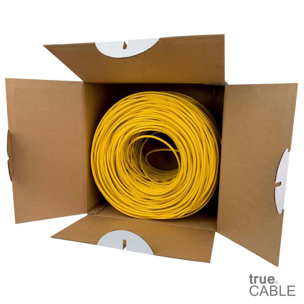 Cat6 Plenum Ethernet Cable Yellow 1000ft trueCABLE Open Box