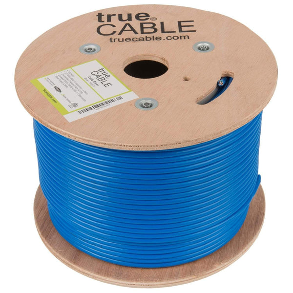 Cat6 Riser Ethernet Cable Blue 500ft trueCABLE Reel No Wrap