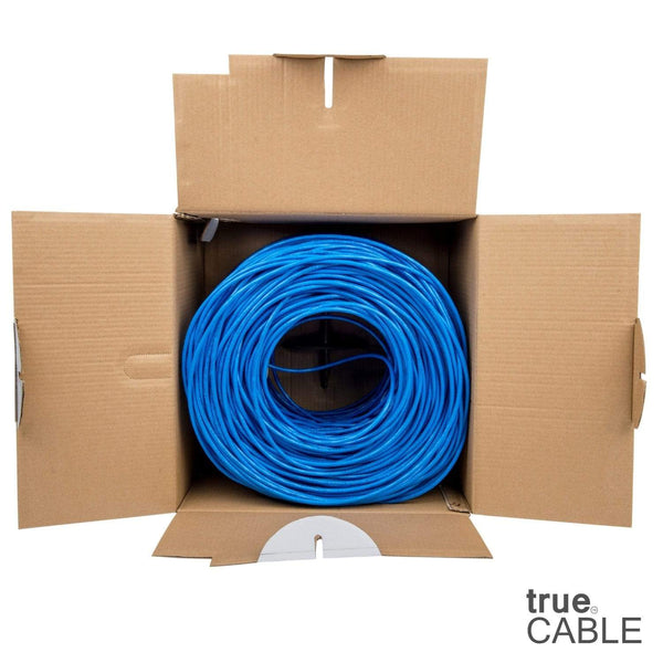Cat6 Riser Ethernet Cable Blue 1000ft trueCABLE Open Box