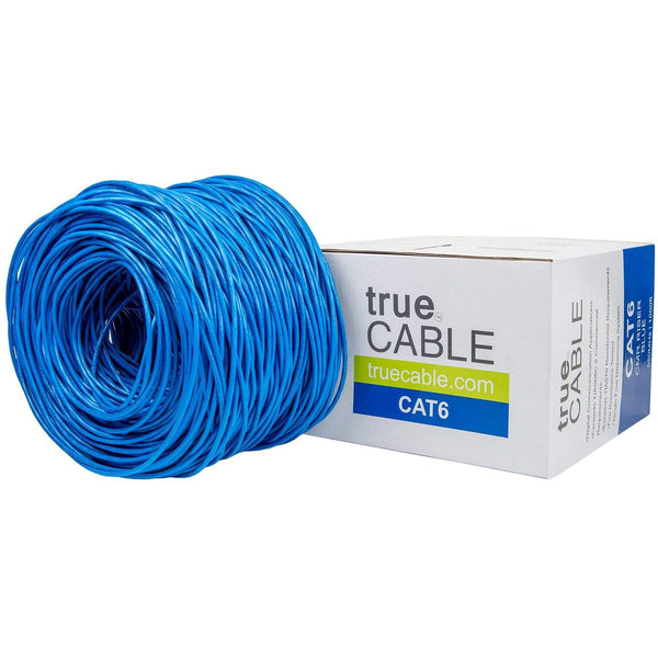 Cat6 Riser Ethernet Cable Blue 1000ft trueCABLE Box Top